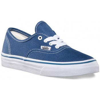 Shoes Children Trainers Vans Kids Navy & True White Authentic Trainers Blue