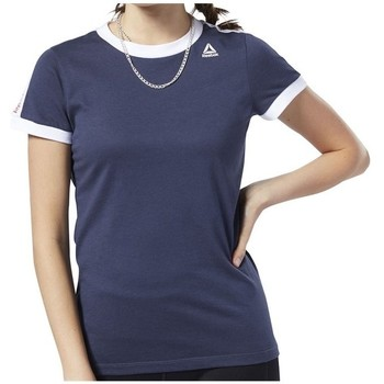 Clothing Women short-sleeved t-shirts Reebok Sport Linear Logo Tee Navy blue