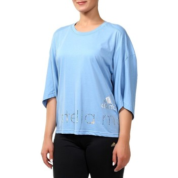 Clothing Women Long sleeved tee-shirts adidas Originals ES Logo Blue
