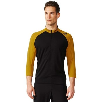 Clothing Men Long sleeved tee-shirts adidas Originals Trail Sport Short Sleeve Jersey Honey,Black