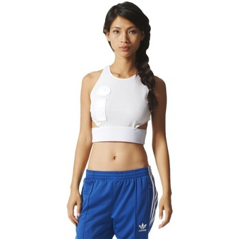Clothing Women Tops / Blouses adidas Originals Cropped Top White