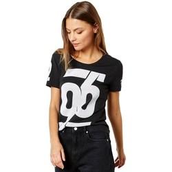 Clothing Women Short-sleeved t-shirts adidas Originals Number Tshirt White, Black