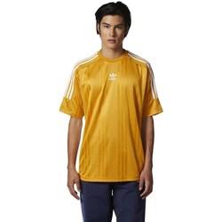 Clothing Men short-sleeved t-shirts adidas Originals Originals Jacquard 3 Stripes Tshirt Yellow