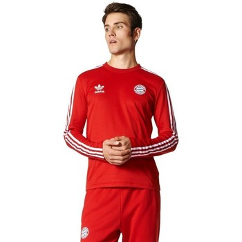 Clothing Men Long sleeved tee-shirts adidas Originals Bayern Jersey Red
