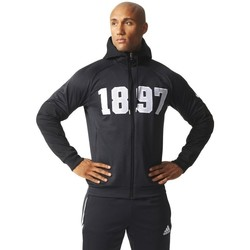 Clothing Men sweaters adidas Originals Juve SF Hood ZI Black