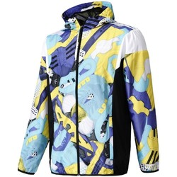 Clothing Men Jackets adidas Originals Originals Montage Aop Windbreaker Black, Blue, Light blue
