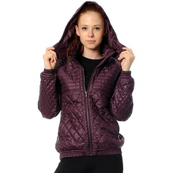 Clothing Women Jackets adidas Originals J Quilt Jacket Burgundy