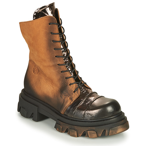 Shoes Women Mid boots Papucei NURIA Brown / Black