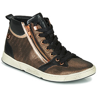 Shoes Women Hi top trainers Pataugas JULIA/MIX F4F Pink / Gold / Black