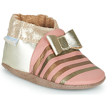 Shoes Girl Slippers Robeez SHINY BOW TIE Pink / Gold