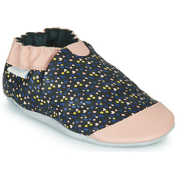 Shoes Girl Slippers Robeez RAINY LOVE Black / Pink