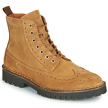 Shoes Men Mid boots Selected RICKY SUEDE BROGUE BOOT Camel