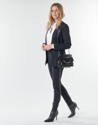 Clothing Women 5-pocket trousers Karl Lagerfeld PUNTO PANTS W/ LOGO TAPE Marine / Black