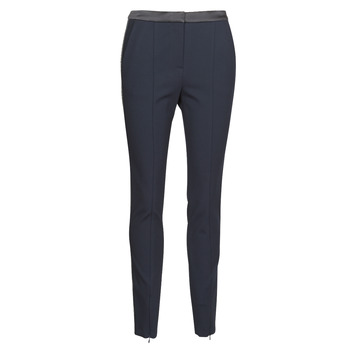Clothing Women 5-pocket trousers Karl Lagerfeld PUNTO PANTS W/ LOGO TAPE Marine / Black