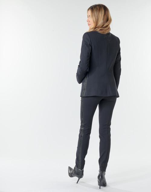 2020 Newest Karl Lagerfeld PUNTO JACKET W/ SATIN LAPEL Marine / Black 17740941 Women's Clothing