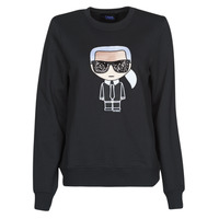 Clothing Women Sweaters Karl Lagerfeld IKONIK KARL SWEATSHIRT Black
