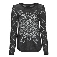 Clothing Women Jumpers Desigual BUDAPEST Black