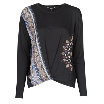 Clothing Women Long sleeved tee-shirts Desigual MARSELLA Marine