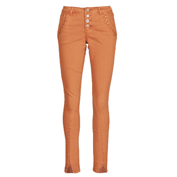 Clothing Women 5-pocket trousers Cream HOLLY CR TWILL Brown