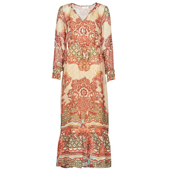 Vintage Style Dresses | Vintage Inspired Dresses Cream  SANNIE DRESS  womens Long Dress in Multicolour £99.50 AT vintagedancer.com
