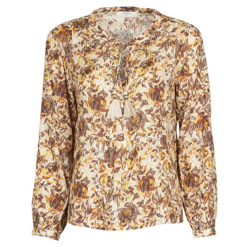 Clothing Women Tops / Blouses Cream AUGUSTA BLOUSE Multicoloured