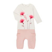 Clothing Girl Sets & Outfits Catimini CR36001-11 White / Pink