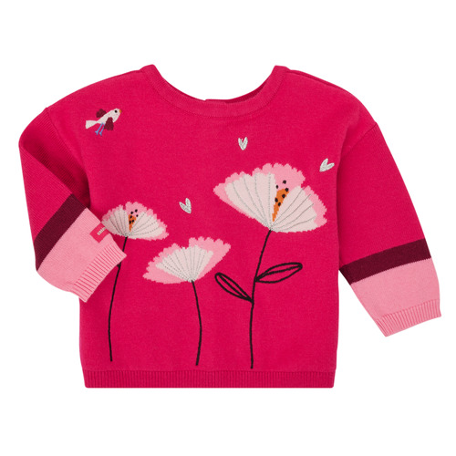 Clothing Girl Jackets / Cardigans Catimini CR18033-35 Pink