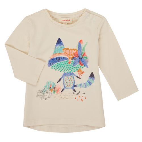 Clothing Girl Long sleeved tee-shirts Catimini CR10053-12 White