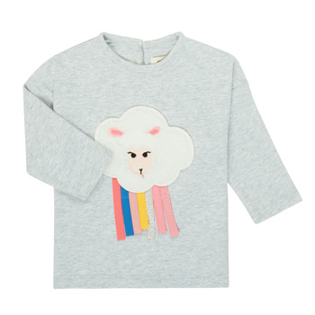 Clothing Girl Long sleeved tee-shirts Catimini CR10093-21 Grey