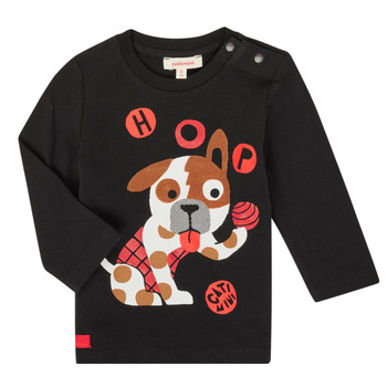 Clothing Boy Long sleeved tee-shirts Catimini CR10022-02 Black