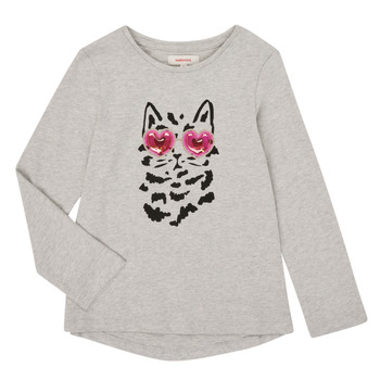 Clothing Girl Long sleeved tee-shirts Catimini CR10275-26-J Grey
