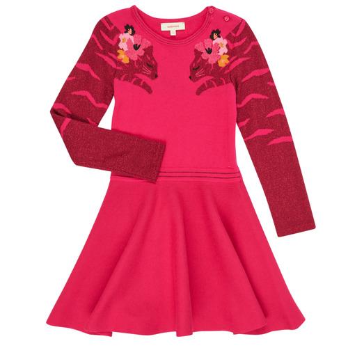 Clothing Girl Short Dresses Catimini CR30085-35 Pink