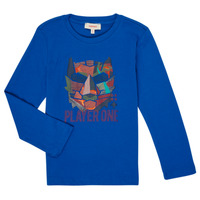 Clothing Boy Long sleeved tee-shirts Catimini CR10134-45-C Blue
