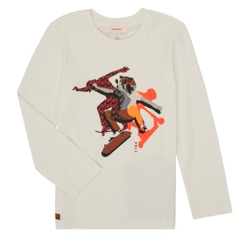 Clothing Boy Long sleeved tee-shirts Catimini CR10024-11-J White