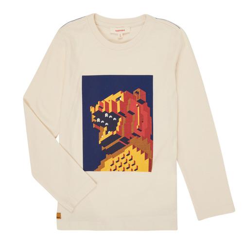Clothing Boy Long sleeved tee-shirts Catimini CR10064-17-J White