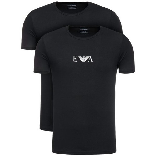 Clothing Men short-sleeved t-shirts Armani 2-Pack EA Basic Tee Black Black