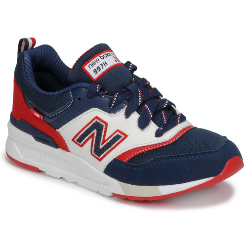 Shoes Boy Low top trainers New Balance 997 Blue / White / Red