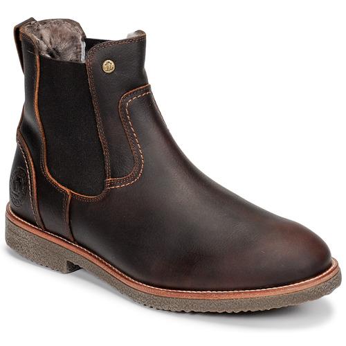 Shoes Men Mid boots Panama Jack GARNOCK Brown