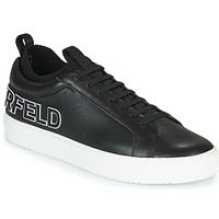 Shoes Men Low top trainers Karl Lagerfeld KUPSOLE Tracer Logo Lo Black