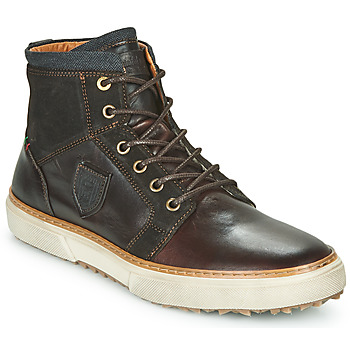 Shoes Men Hi top trainers Pantofola d'Oro BENEVENTO UOMO HIGH Brown