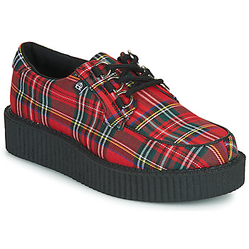 Shoes Derby Shoes TUK ANARCHIC 3RING CREEPER CANVAS Red / Tartan