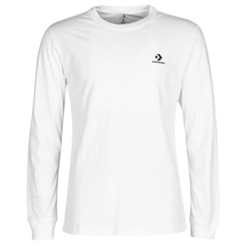 Clothing Men Long sleeved tee-shirts Converse CONVERSE FOUNDATION LS TEE White
