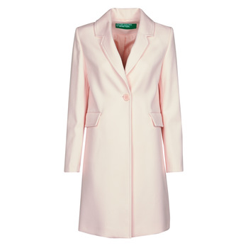 Clothing Women Coats Benetton 2AMH5K2R5 Pink