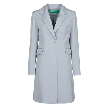 Clothing Women Coats Benetton 2AMH5K2R5 Grey