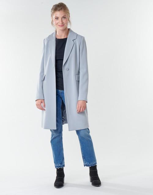Clothing Women Coats Benetton 2AMH5K2R5 Grey