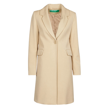 Clothing Women Coats Benetton 2AMH5K2R5 Beige