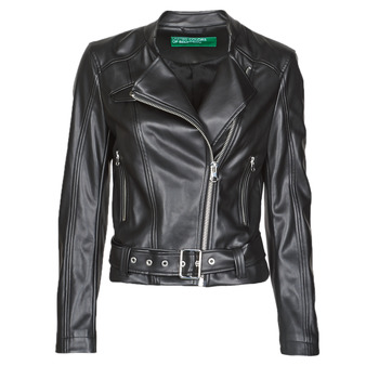 Clothing Women Leather jackets / Imitation leather Benetton 2ALB53673 Black