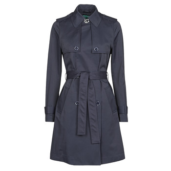 Clothing Women Trench coats Benetton 2BIM5K2S3 Marine