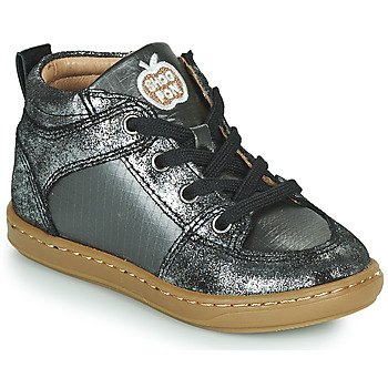 Shoes Girl Hi top trainers Shoo Pom BOUBA GANG Silver