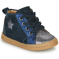 Shoes Girl Hi top trainers Shoo Pom KIKKI STAR Blue